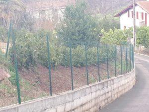 Pose d'une clôture pour un jardin à Bidart